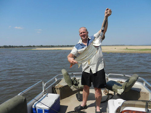 carl with tiger fish